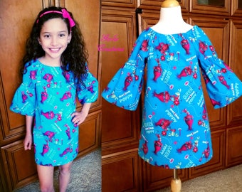 Girls Trolls Poppy Dress, Girls Dress, Poppy, Trolls Audrey Dress, Turquoise Trolls Dress -  2T - 10