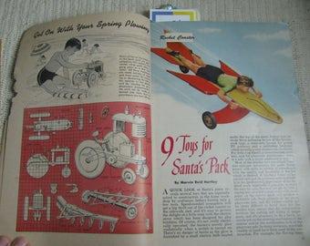 1952 Popular Mechanics Christmas Handbook of ALOT of things to make
