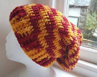 Handmade crochet slouch/ Tam hat made in snowdonia Wales uk