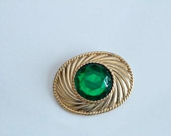 Ungaro Green   Brooch/Pin #871