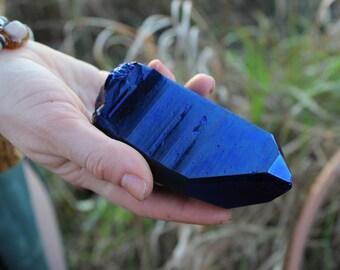 Cobalt Titanium Aura Quartz Point