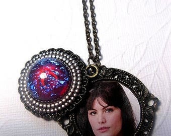 Dragons Breath Necklace - Opal Necklace - Sliding Locket - Sisters Necklace - Family Necklace - Custom Chain Length