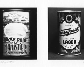 Rocky Point Park Narragansett beer 2 in 1 gelatin silver print Rhode Island