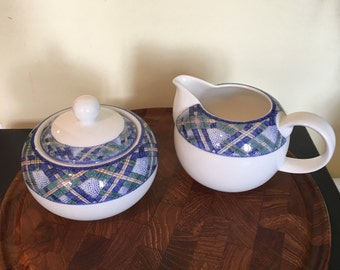 Royal Doulton Everyday Cream Pitcher and Covered Sugar Bowl Glen Ora England
