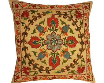 Hand Embroidered Suzani Pillow Cover msp793, Suzani Pillow, Suzani Throw, Boho Pillow, Suzani, Decorative pillows, Accent pillows