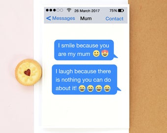 Funny Mother's Day Card, Card for Mum, Mothers Day Card, Mothers Day, Emoji Card, Funny Birthday Card for Mum, Motherhood, Mothers Birthday