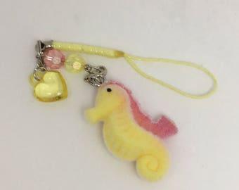 Cute Kawaii Fuzzy Seahorse Charm