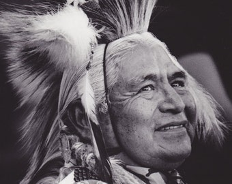 """Native American Chief """"A Good Day to Smile"""""""