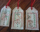Frosty's Pine Tag collection, fabric tags