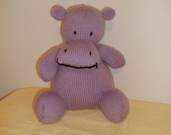 Knitted Purple Hippo