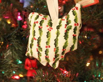 Ohio Ornament in Holly   Free Shipping :)