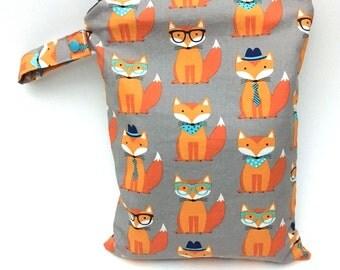 Cloth Diaper Bag, Wet Bag, Fox Diaper Bag for Twins, Woodland Diaper Bag Boy, Design Your Own, Beach Bag Zipper, Waterproof Bag, Nappy Bag