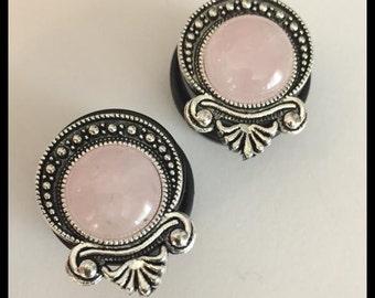 PICK SIZE Rose Quartz stone gypsy  Custom Girly Plugs