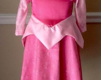 SAMPLE SALE Ready to Ship! Sleeping Beauty Dress in Pink Toddler Size 1