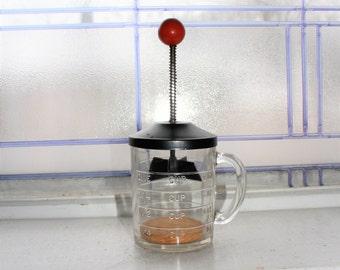 1950s Kitchen Chopper Hazel Atlas One Cup Glass Measure