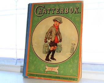 Antique Children's Book Chatterbox 1923