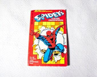 Spidey's Clever Crosswords (1977) #1 - 70s Spiderman puzzle book - Unused Marvel game