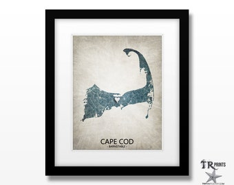 Cape Cod - Home Is Where The Heart Is Art Print - Available in Multiple Sizes & Colors