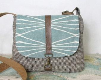 Colorado- Crossbody messenger bag // Adjustable strap // Southwestern // Tribal // Geometric // Vegan purse // Travel bag // Ready to ship