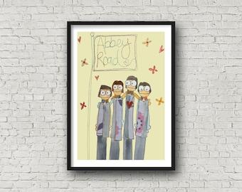Beatles - Fab 4 - Fab Four - Beatles Liverpool - Print of the Beatles