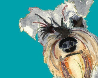 Cute Dog - Schnauzer Dog - Dog Print