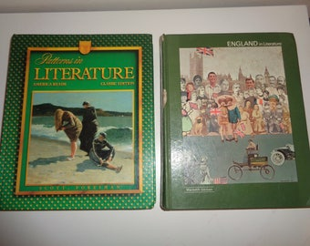 2 RETRO Literature Textbooks, AMERICAN and ENGLISH Text Books in Used Book  Condition, Great for a Teacher or for someone studying Reading