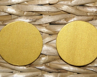 Large Stud Earrings - Gold 2 Inch