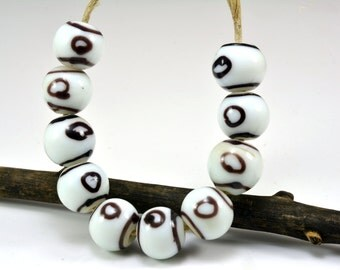 Pellet glass beads etsy for Travertine eye drops