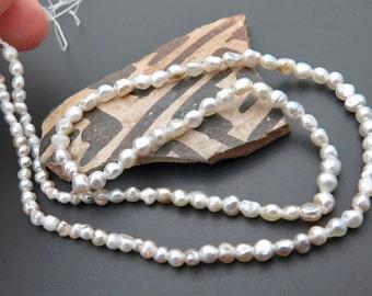 Very RARE Tahitian Metallic Keishi Multi Color Pearls Full Strand *Natural Colors - 30.25cts