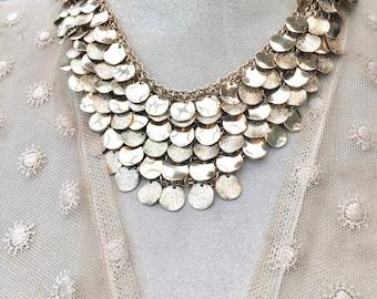 Beautiful Cascading Bib Style Necklace