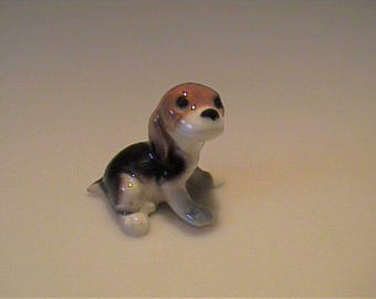 Vintage miniature Hagen Renaker Beagle puppy dog