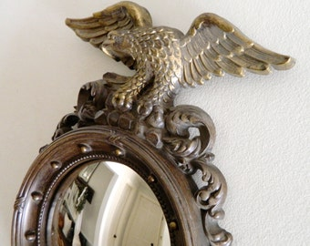 Vintage Federal Eagle Convex Mirror