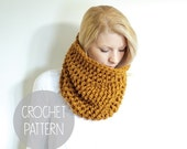FLASH SALE crochet pattern - easy textured one hour crochet cowl - the barnwell