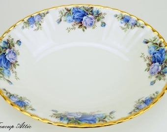Royal Albert Moonlight Rose 9 inch Oval Vegetable Bowl, English Bone China Replacement Vegetable Bowl, ca. 1987