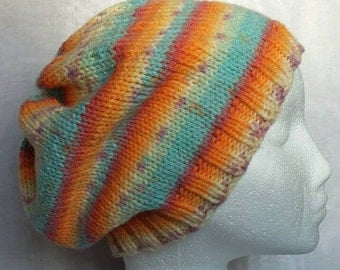 Multicoloured Pastel Slouch Hat - Adult