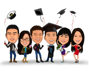 Congratulation Gifts/graduation /celebration/season greeting/digital print/cartoon/caricature/print on card