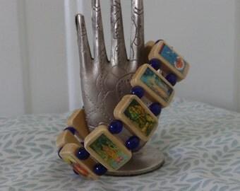 Vishnu Wooden Bracelet. Devotional Bracelet.