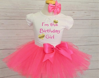 im the birtday girl outfit,FREE SHIPPING,  birhtdaygirl outfit,girl outfit, pink outfit
