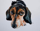 Ready to ship, Original dog painting on paper Beagle