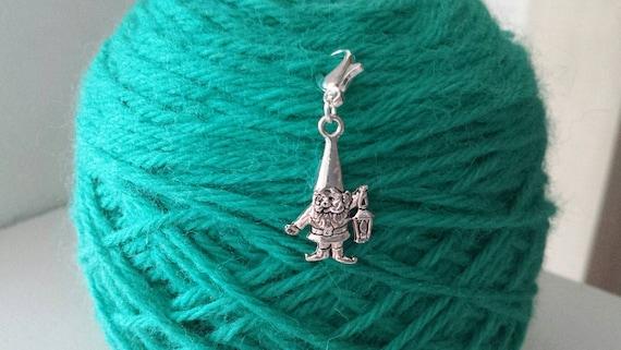 Crochet Stitch Keeper : Gnome Knitting/Crochet Stitch Marker -Project Bag Zipper Charm-Purse ...