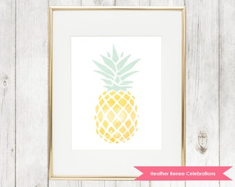 Pineapple Wall Art | Pineapple Home Decor Print | Nursery Art Instant Download