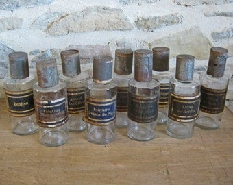 French pharmacy bottles - original Antique apothecary bottles