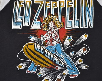 Rare 70's 80's Led Zeppelin Shirt T-Shirt Jimmy Page Tee Black Sabbath Blues Classic Rock Jersey Size M