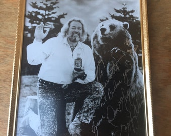 Signed Photo of Grizzly Adams, Framed, 1980's