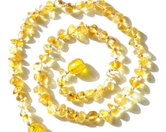 15% OFF Baltic Amber Baby Teething Necklace, Honey Amber Color, Necklace for Baby