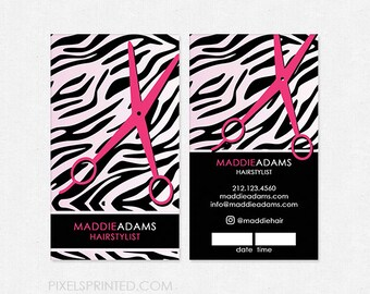 hairstylist DELUXE business cards - color both sides - FREE UPS ground