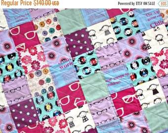 HURRY FLASH SALE Modern Baby Quilt - Gender Neutral Crib Quilt - Echino Fabrics