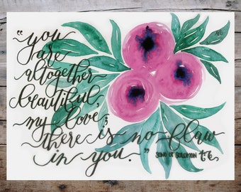 Altogether Beautiful Print - Song Of Solomon 4:7