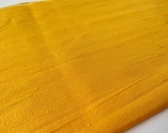 Yellow India raw silk shantung silk fabric nr 801 by yard or meter