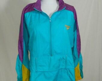 Vintage 1980s Reebok Windbreaker Pullover Women's Size Large